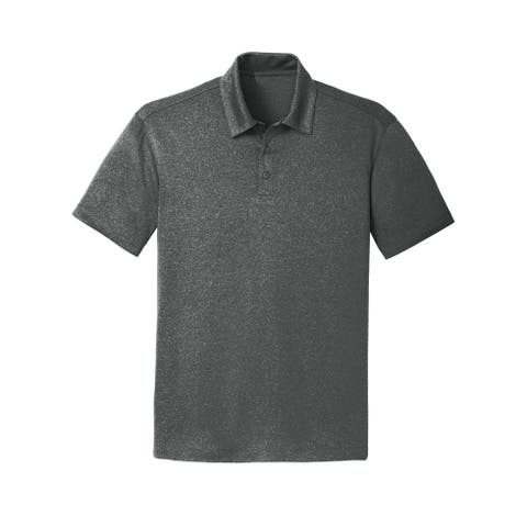 Gravity Threads Mens Trace Heather Polo Shirt