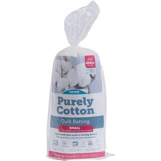 "45""X60"" 100% Cotton FOB: MI - Fairfield Purely Cotton Natural Batting"