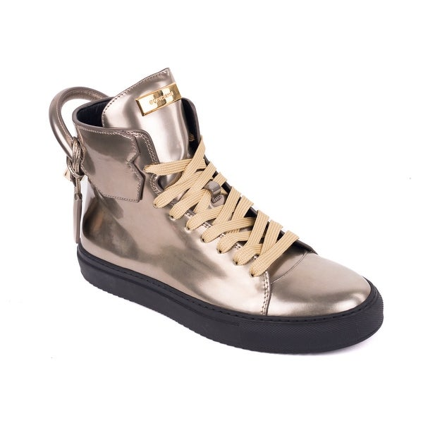 2bee8b7cf Shop Buscemi Mens 125MM Gold Metallic Leather Lace Up Sneaker - Free ...