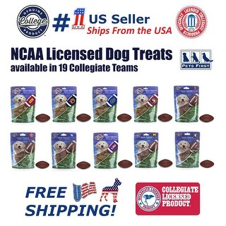 NCAA Dog Treats Natural & Delicious Dog Cookies Licensed with engraved Football