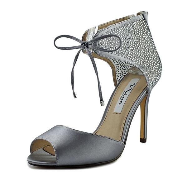 Nina Madge Women Open Toe Canvas Silver Sandals