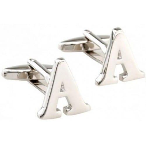 Letter A Alphabet Initial Cufflinks