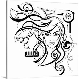 """hair style"" Canvas Wall Art"
