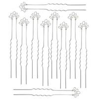 Silver Plated 5-Loop Hair Pins - Fun Craft Beading Project - Bridal - 4 Inches (10)
