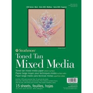 "Strathmore Toned Mixed Media Paper - Toned Tan 9""X12""-"