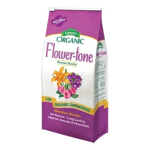 Espoma FT4 Flower-Tone Bloom Booster Organic Premium Flower Food, 3-4-5, 4 Lbs