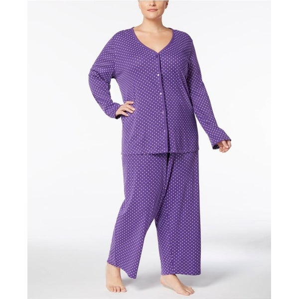 28cc5ba00750 Charter Club Women's Printed Pajama Set Printed-Scattered Heart Size 3