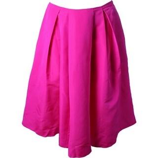 Polo Ralph Lauren Womens A-Line Skirt Silk Pleated - 14