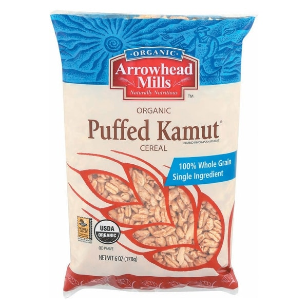 Arrowhead Mills Organic Puffed Kamut Cereal - Case of 12 - 6 oz.