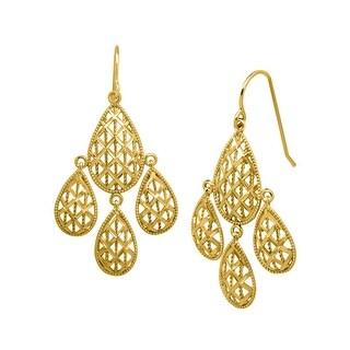 Eternity Gold Chandelier Mesh Earrings in 10K Gold - YELLOW