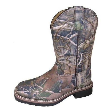 Smoky Mountain Western Boots Boys Wilderness Textile Camo