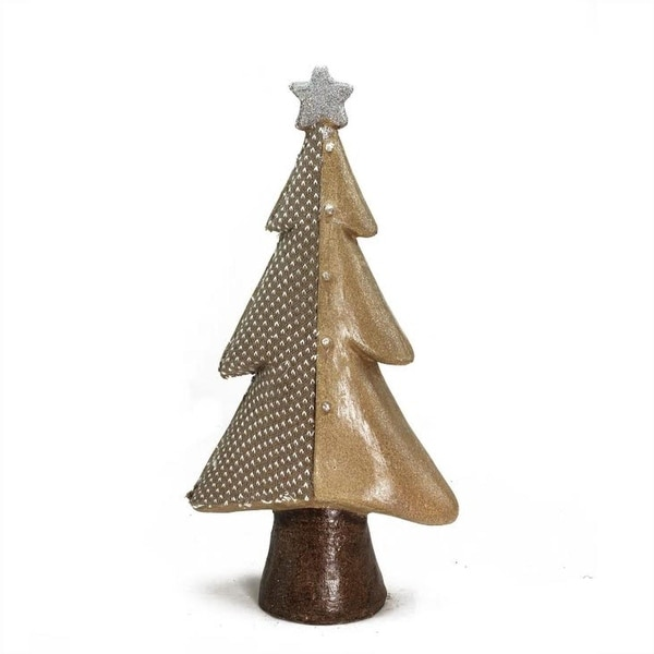 "18"" Brown Textured Eco-Friendly Christmas Tree Tabletop Figure"