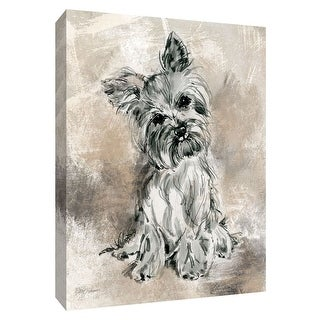 """PTM Images 9-148602  PTM Canvas Collection 10"""" x 8"""" - """"Sketchy Study Yorkie"""" Giclee Dogs Art Print on Canvas"""