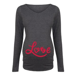 Love Footprints - Maternity Long Sleeve Tee