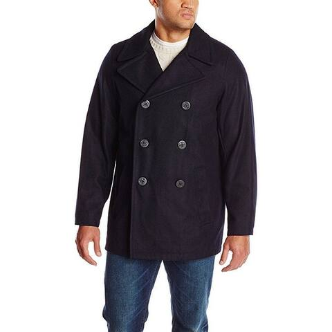 Tommy Hilfiger Men's Big-Tall Classic Peacoat, Navy, Large/Tall