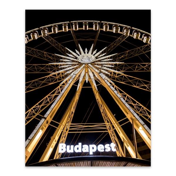 Budapest Hungary Amusement Park Metal Wall Art Print. Opens flyout.