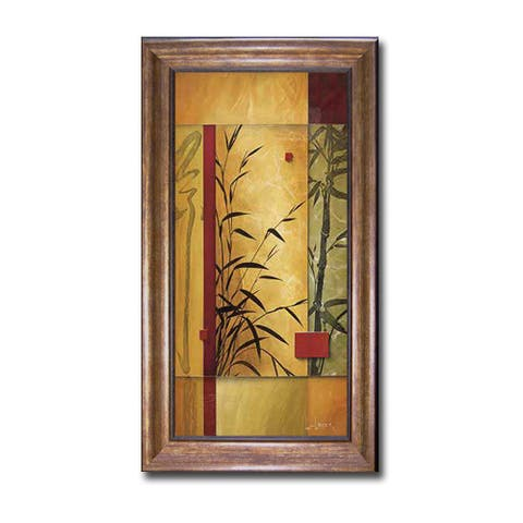 Garden Dance II by Don Li-Leger Bronze-Gold Framed Canvas Art (40 in x 22 in Framed Size)