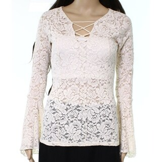 Romeo & Juliet Couture Ivory Womens Size Medium M Lace Blouse
