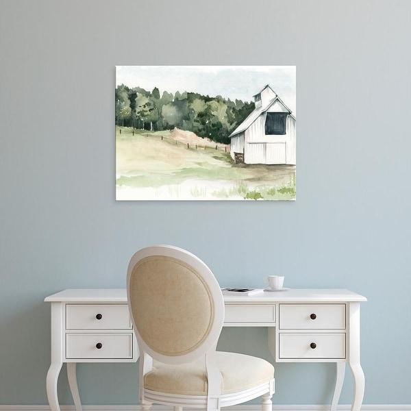 Easy Art Prints Jennifer Paxton Parker's 'Watercolor Barn III' Premium Canvas Art