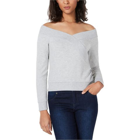 Bar Iii Womens Off The Shoulder Sweatshirt