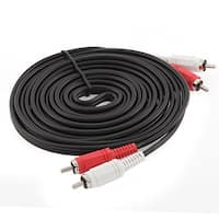 2-RCA Male Plug Audio Video DVD HDTV Component Cable Black 3.5mm 10 Ft