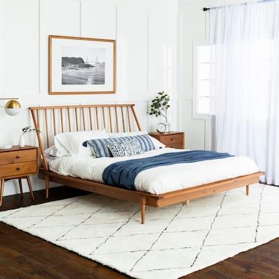 Carson Carrington Blaney Solid Wood Spindle Platform Bed