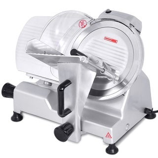 """Costway 10"""" Blade Commercial Meat Slicer Deli Meat Cheese Food Slicer Industrial Quality - Silver"""