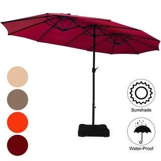 Link to Costway 15 Ft Patio Double Sided Umbrella Outdoor Market Umbrella Similar Items in Patio Umbrellas & Shades