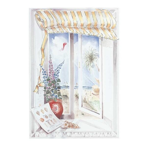 Wall Art White Wood Print w/ Hangers 33 1/4 H x 23W