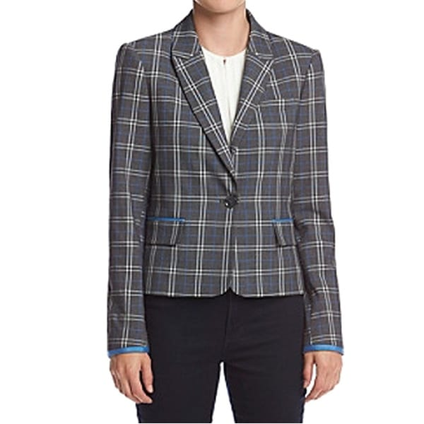 6d6006e12 Shop Tommy Hilfiger NEW Gray Womens Size 10 Plaid Notched Lapel ...