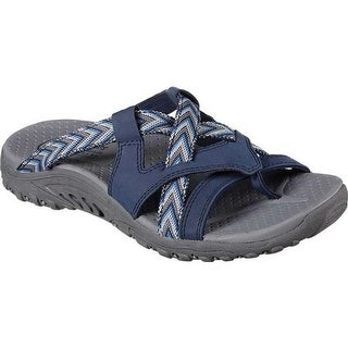 Skechers Women's Reggae Soundstage Thong Sandal Navy
