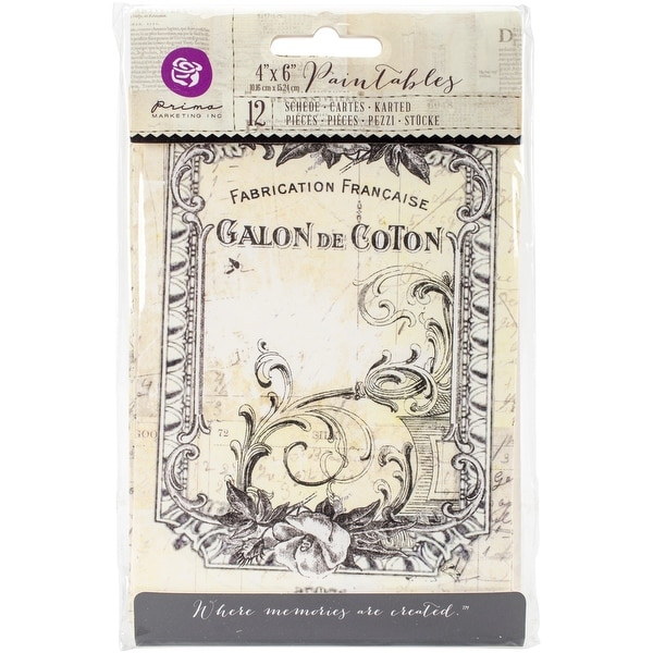 """Iron Orchid Designs Everyday Vintage Paintables Cards-Nostalgic Reflections 4""""X6"""", 12/Pkg"""