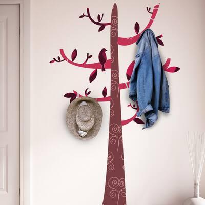 Walplus Colorful Pattern Hooks Tree Wall Sticker Nursery Decor Decal