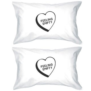 Feeling Empty Heart Cotton Decorative Pillow Case Simple Typography