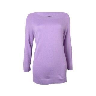 Jones New York Women's Modern Luxe Scoop Neck Sweater