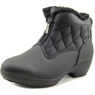 Weatherproof Lori Women  Round Toe Canvas Black Winter Boot