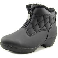 Weatherproof Lori Women  Round Toe Canvas Black Winter Boot