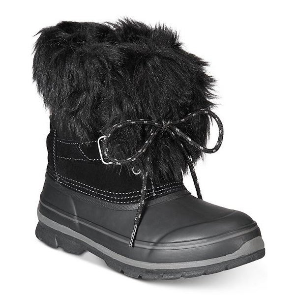Khombu Womens Brooke Leather Closed Toe Mid-Calf Cold Weather Boots. Opens flyout.