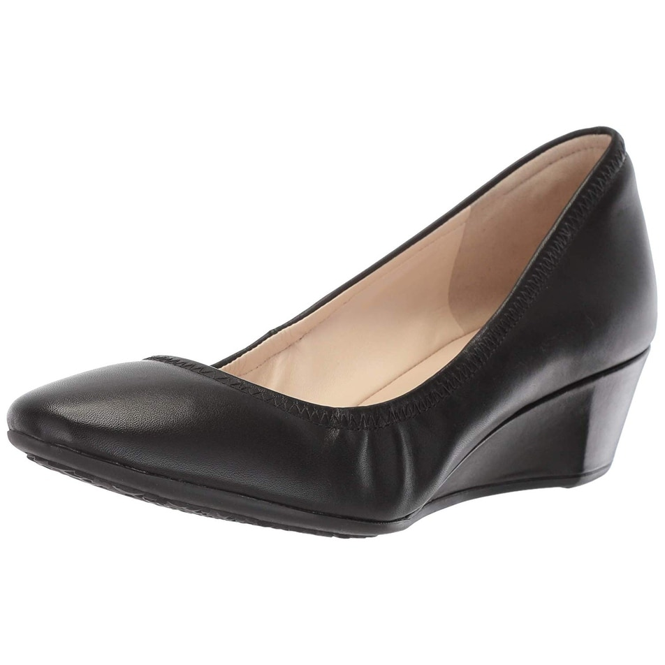 f9d6a47052 Shop Cole Haan Womens sadie Suede Closed Toe Wedge Pumps - Free Shipping  Today - Overstock - 20578233