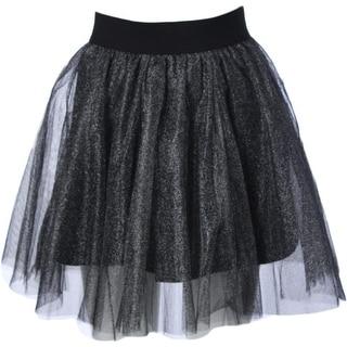 Aqua Womens Metallic Tulle Flare Skirt - S