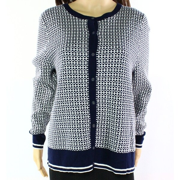 dbb2ceb36c3 Shop Susina NEW Blue Women s Size 2X Plus Button Down Cardigan Sweater -  Free Shipping On Orders Over  45 - Overstock.com - 19435609