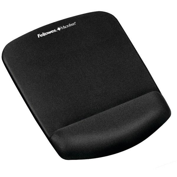 Fellowes 9252001 Plushtouch(Tm) Mouse Pad Wrist Rest With Foamfusion(Tm) (Black)