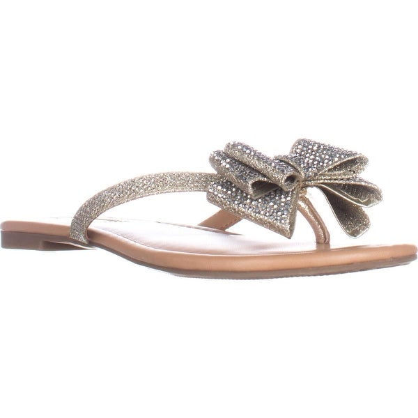I35 Mabae Flat Thong Flip Flop Sandals, Champagne