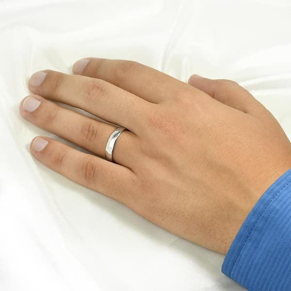 5mm Wide Ring Mens Silver Ring Mens Silver Wedding Band Unisex Ring Sterling Silver Brushed Wedding Band Classic Wedding Band