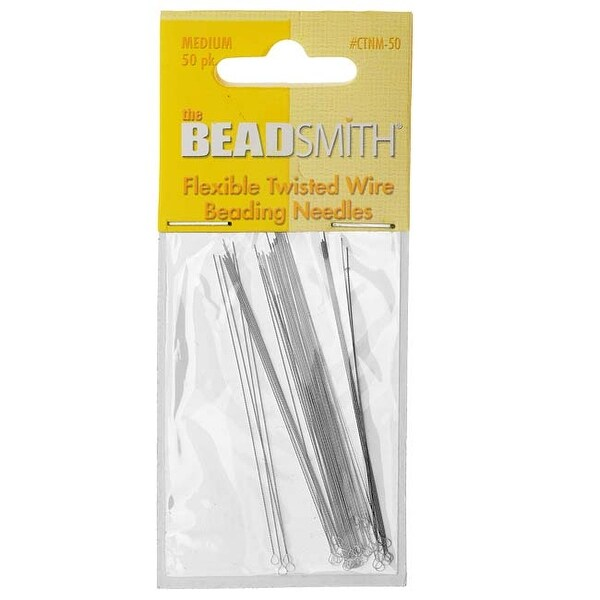 Beadsmith Beading Needles Medium Flexible Twisted (50!)