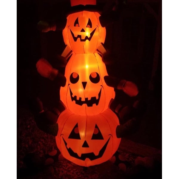Gemmy Airblown Inflatables Animated Whimsy Pumpkin Stack Overstock 12108504