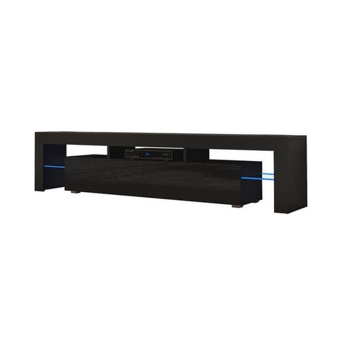 Milano 200 Modern 79-inch TV Stand with 16 Color LEDs