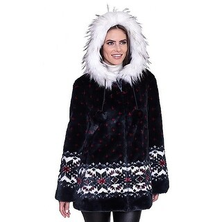 "DuMonde Black Mountain Ladies ""Snowflake"" Faux Fur Coat (4 options available)"