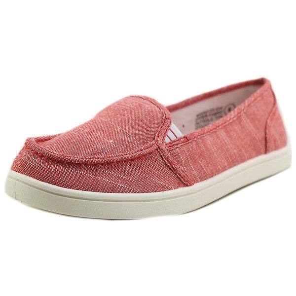 Not Rated Machkerel Women Round Toe Canvas Red Loafer