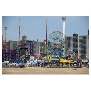 """Coney Island, Brooklyn, NYC"" Poster Print"